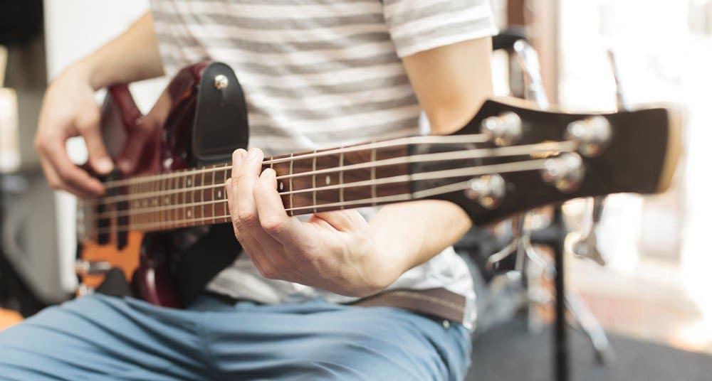 Bass Player Practicing Rhythm